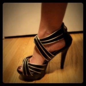 Classy open toe heels